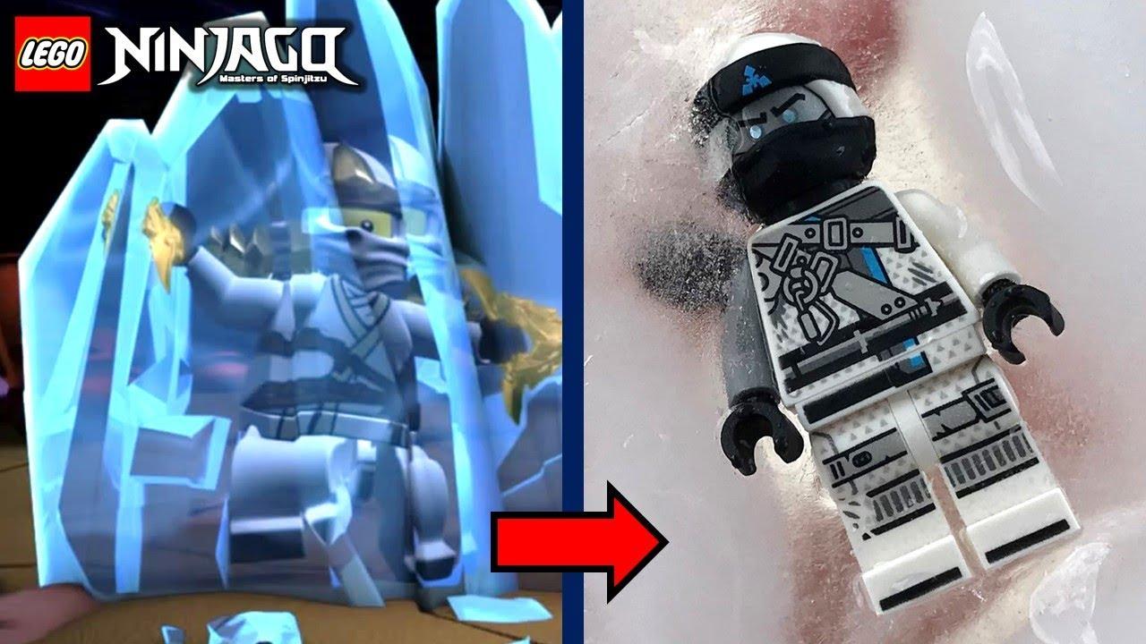 LEGO Ninjago: Zane with REAL Elemental Ice Powers!