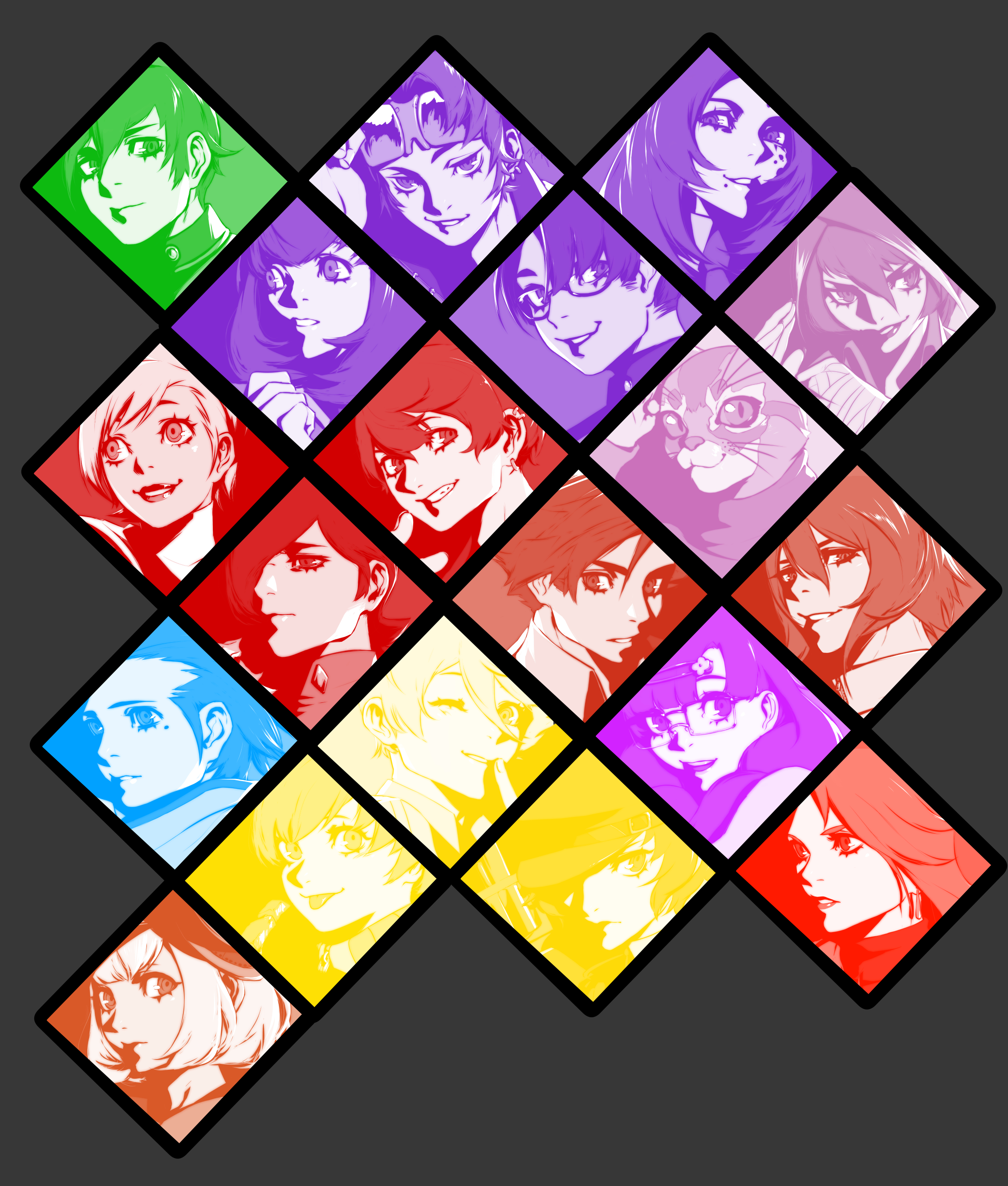 Compilation of drawings of Persona characters, Choose Your Fighter! Who's ur fav, who do u wanna see