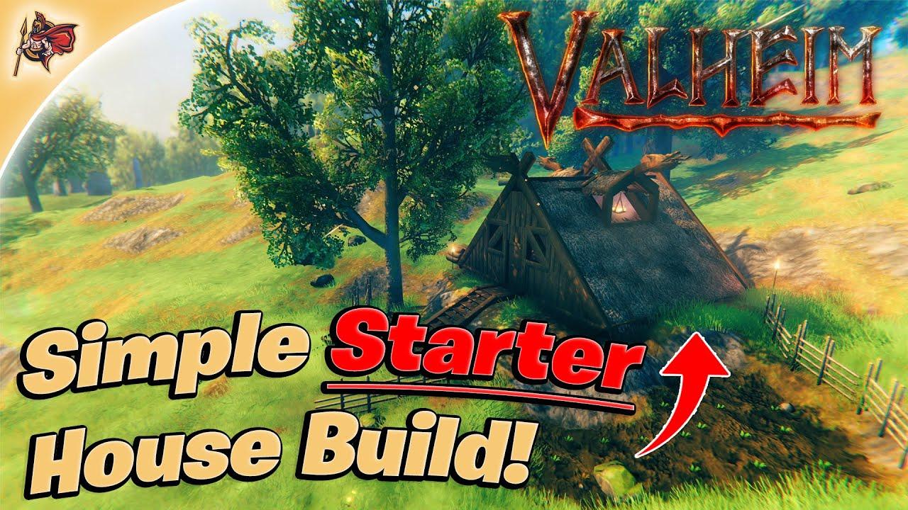 Valheim - Simple Starter House! (Timelapse + Guide)