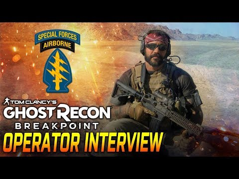 SPECIAL FORCES GREEN BERET INTERVIEW GHOST RECON BREAKPOINT