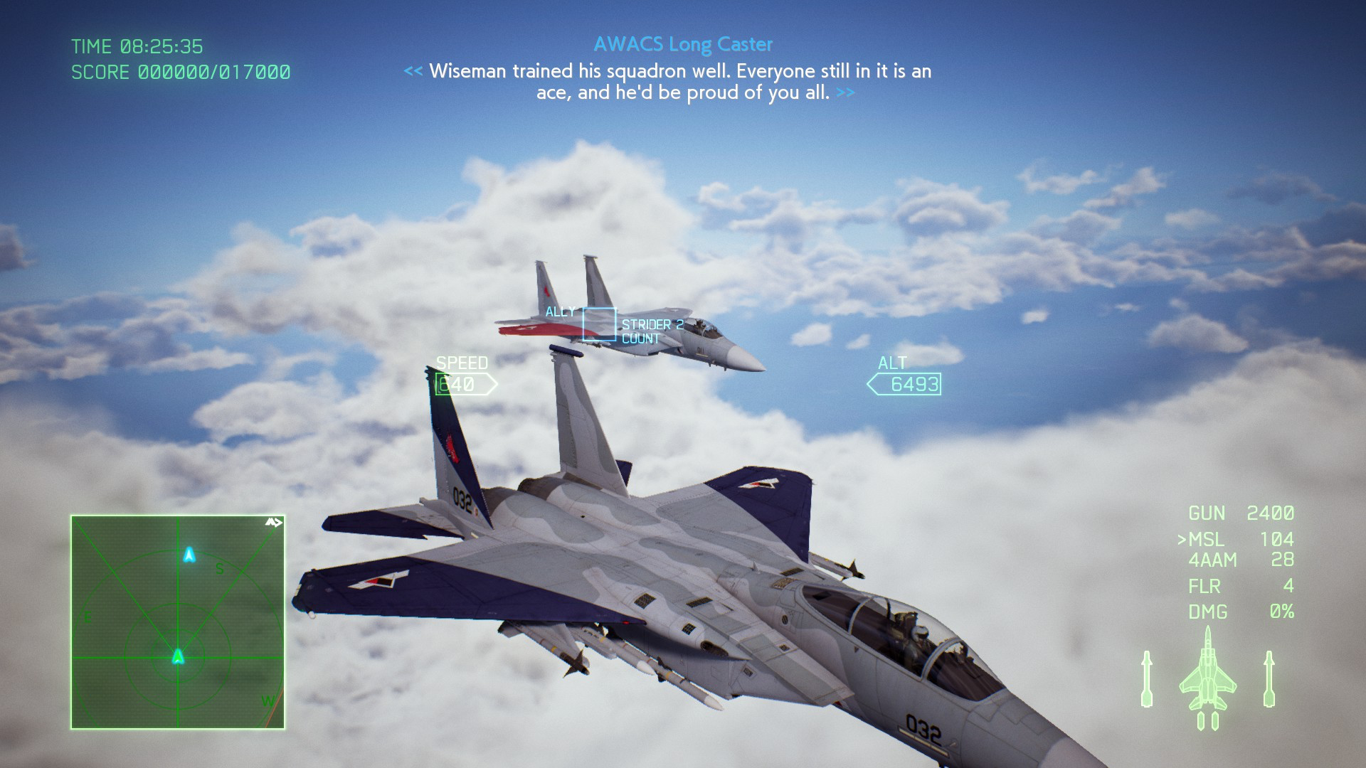 Only modifying the player's aircraft is insufficient. Right, buddy?