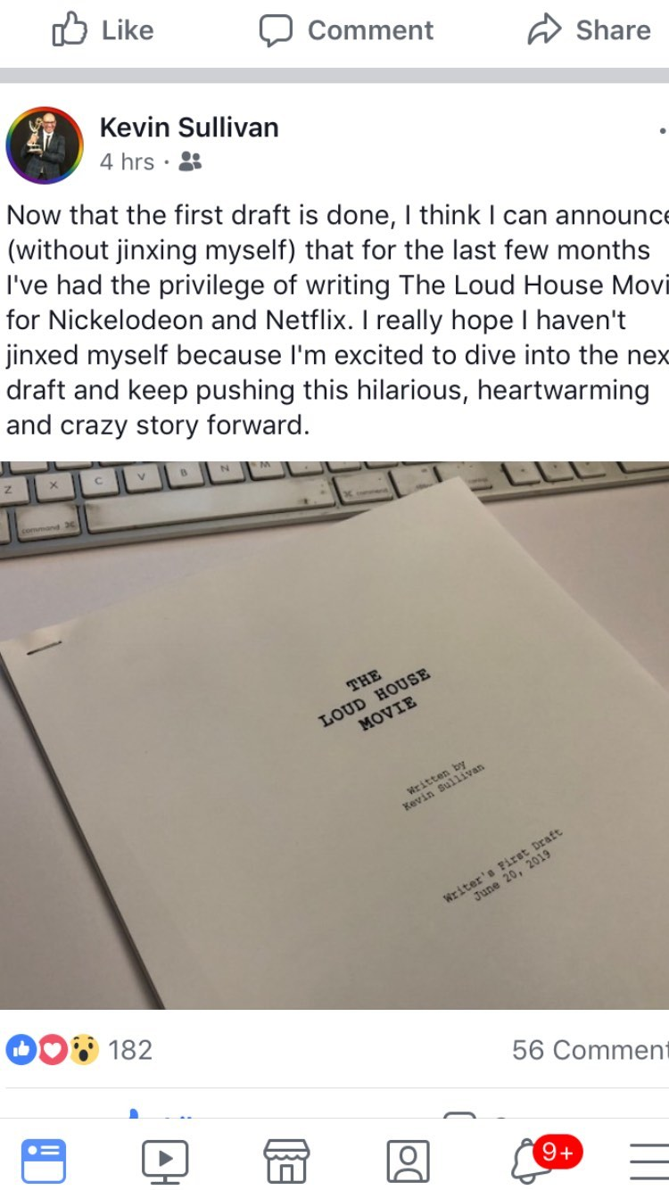 """Finally, we have an officially completed draft for """"The Loud House Movie""""!! ➡(continue to read)"""