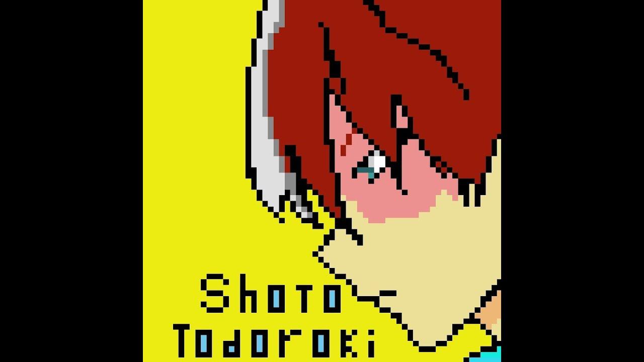 Pixel Art of Shoto Todoroki | Anime | My Hero Academia | Pixel Art | by- PiXel WoRld🔥