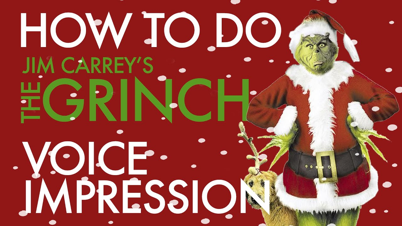 """""""How To Do Jim Carrey's The Grinch Voice Impression"""" - Voice Breakdown Ep. 30 - Christmas 2019"""