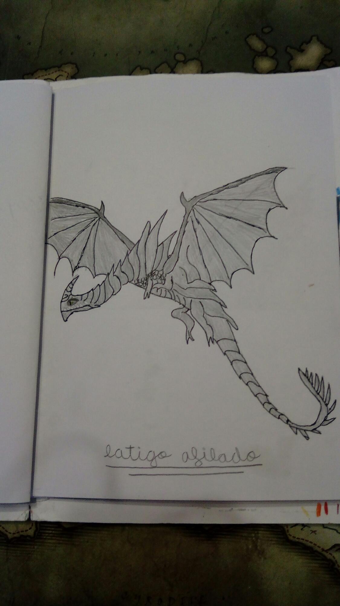 Dibujo de libro de dragones: cizalladura