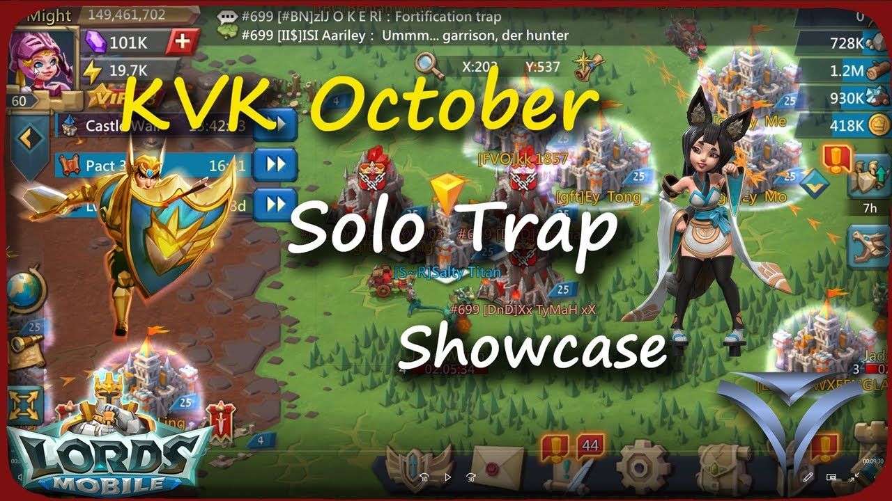 Solo Trap - VS - KVK Showcase - Lords Mobile