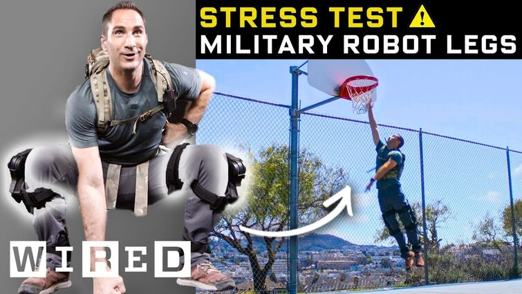 Stress Testing a Real-Life Military Exoskeleton | WIRED