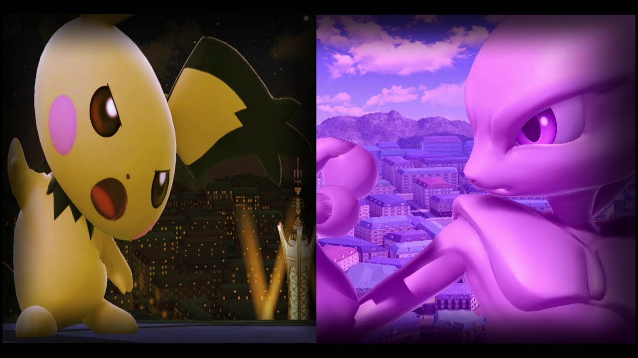 Pichu Vs MewTwo 4! Short Pokemon FanFilm (Smash Edition) :D