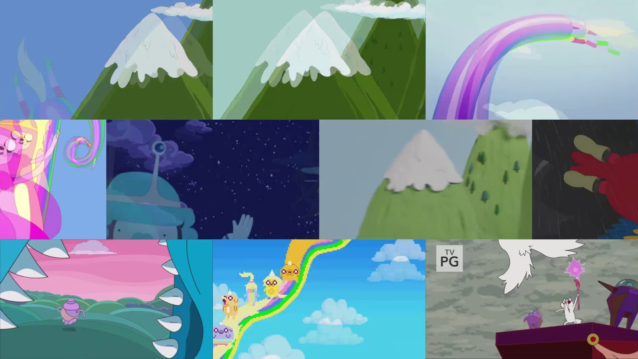 Every Single Adventure Time Opening (all at once)