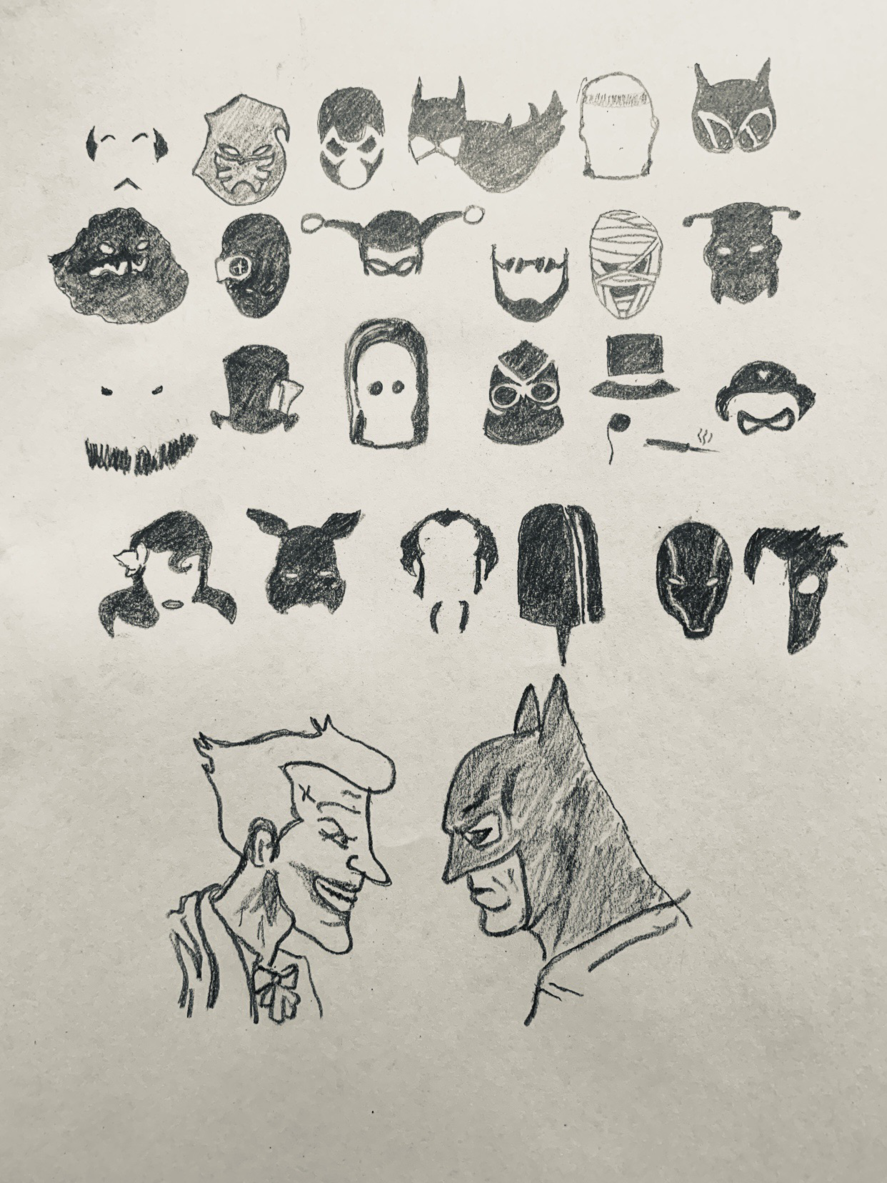 I drew the sketch yesterday 🦇, can you name each one of them