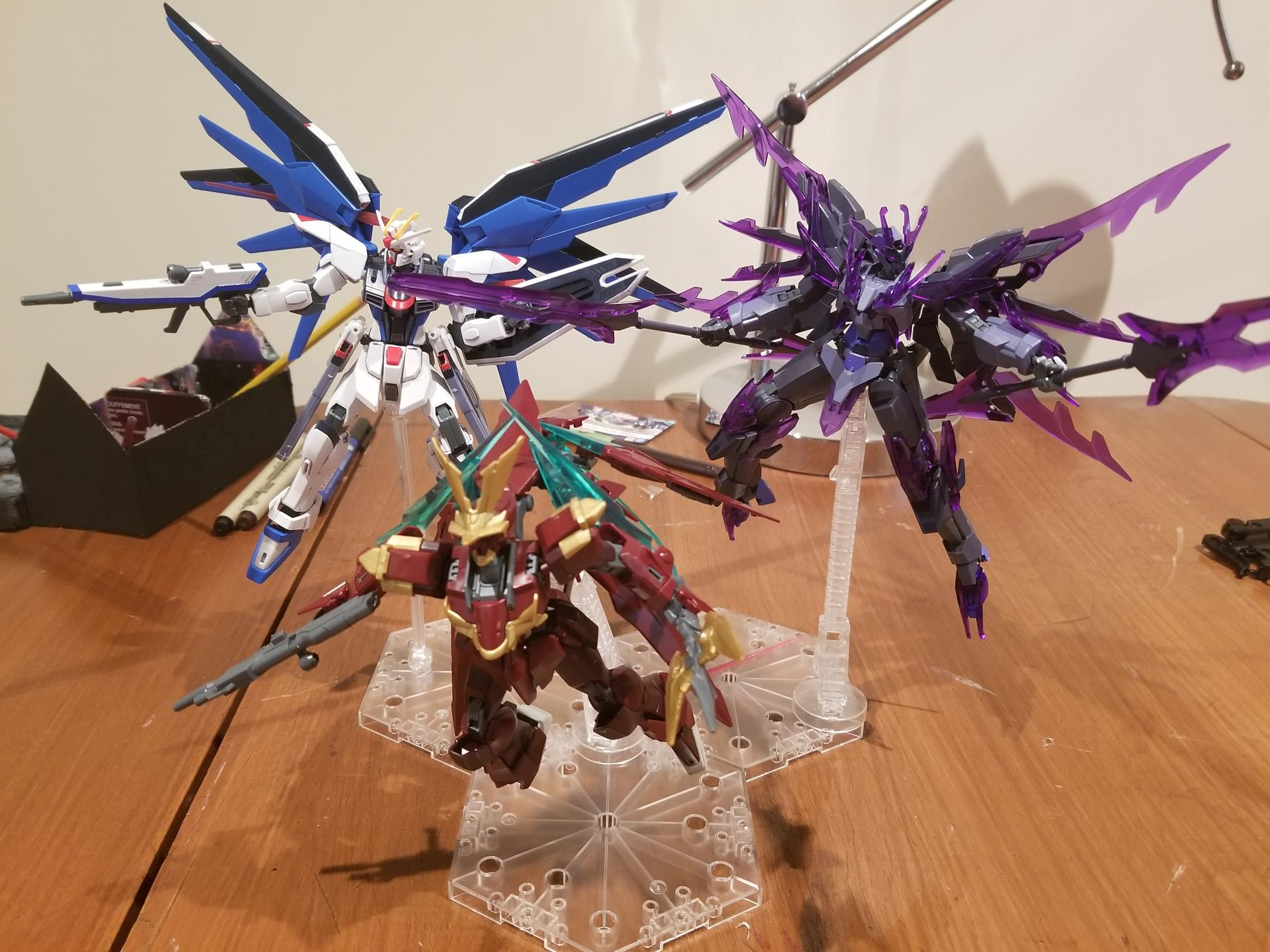My first time using Gunpla stands!!!