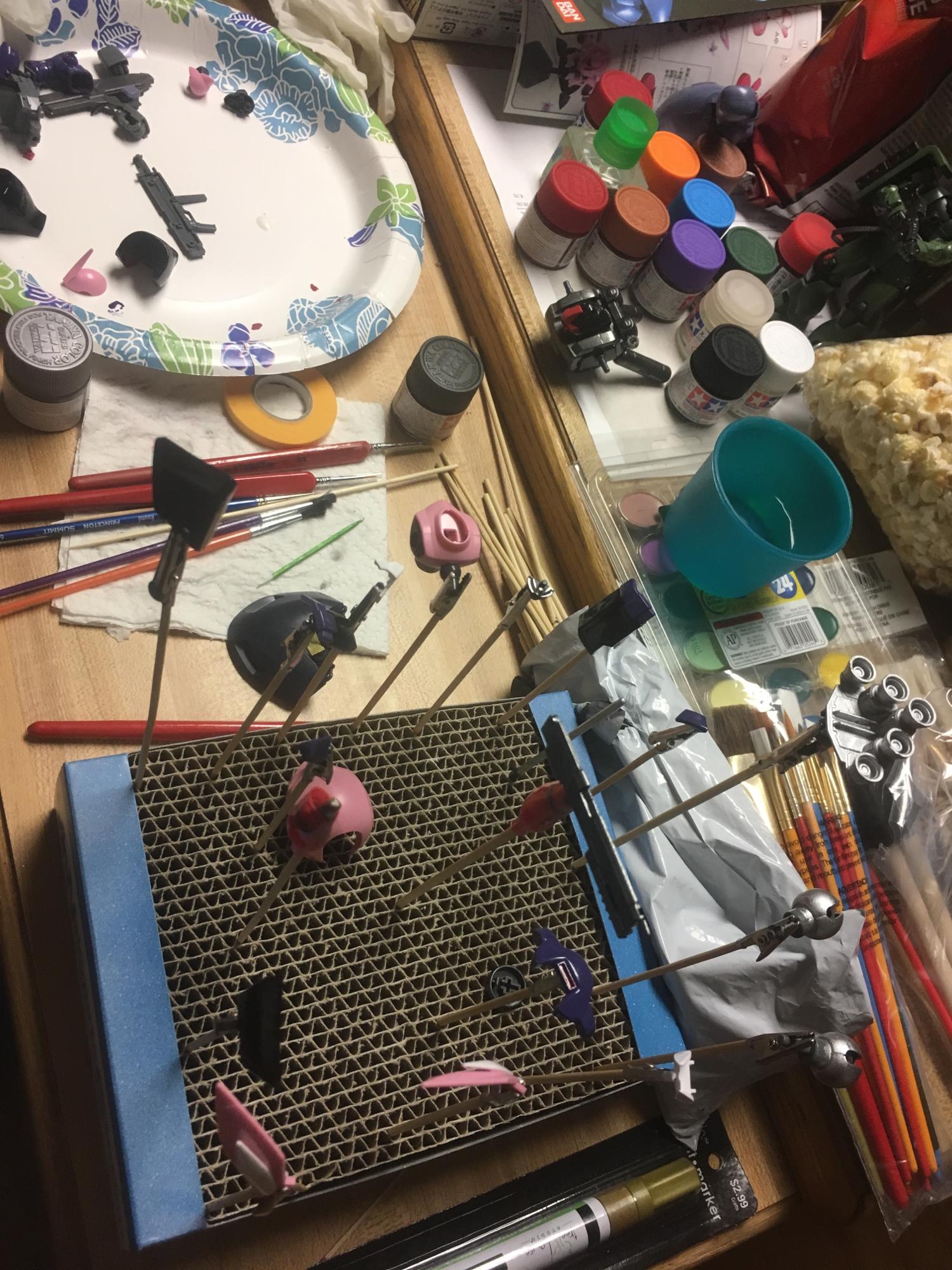 Painting Gunpla