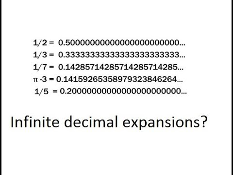 Does an infinite decimal expansion exist?