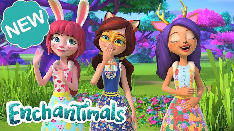 ☀️ SAVANNA SLUMBER PARTY with NEW FRIENDS?! 🌴 | Sunny Savanna Sparkle Spectacular Ep. 1@Enchantimals