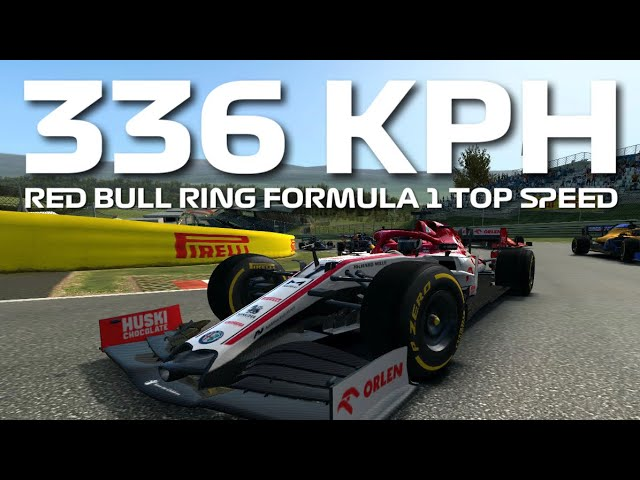 Red Bull Ring Formula 1 Top Speed Challenge 336+ KPH - Real Racing 3