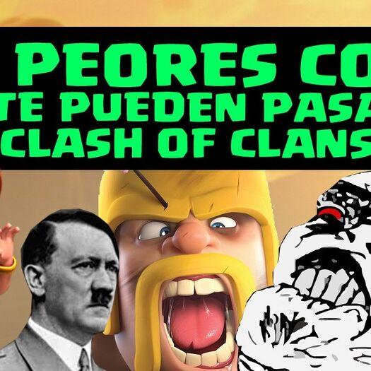 Humor con Memes y Hitler: LAS 20 PEORES COSAS que te pueden pasar en Clash of Clans | Malos Momentos