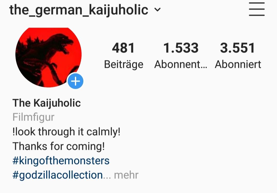 Mein Sammler Profil bei instagram