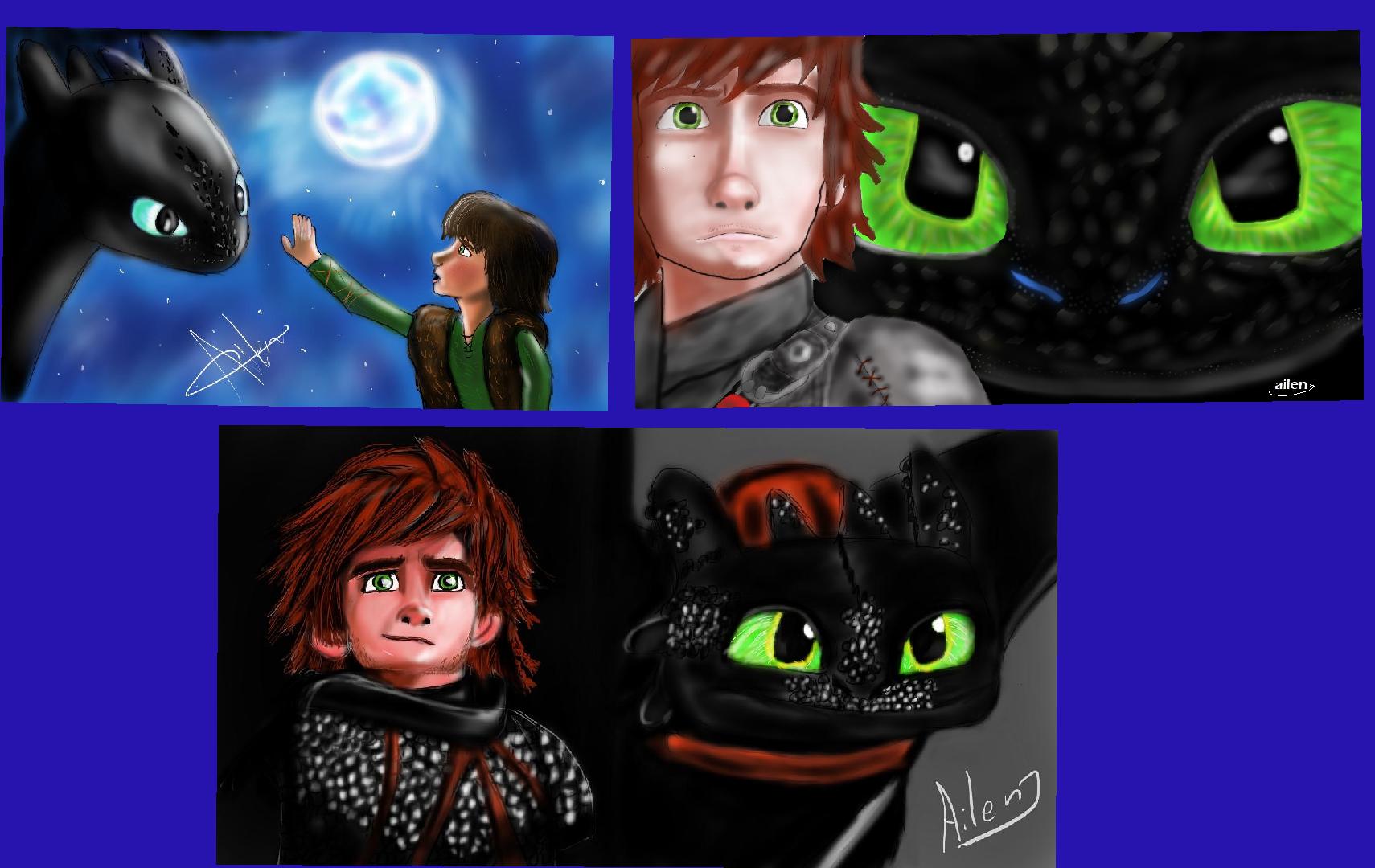 Les presento mis dibujos de Httyd saga