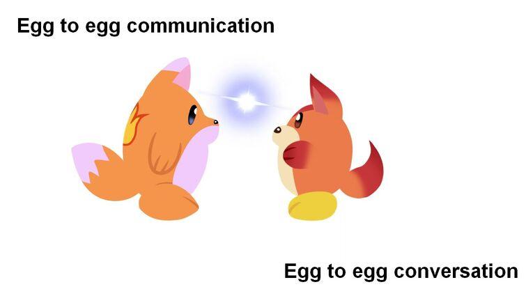 Egg to egg communication