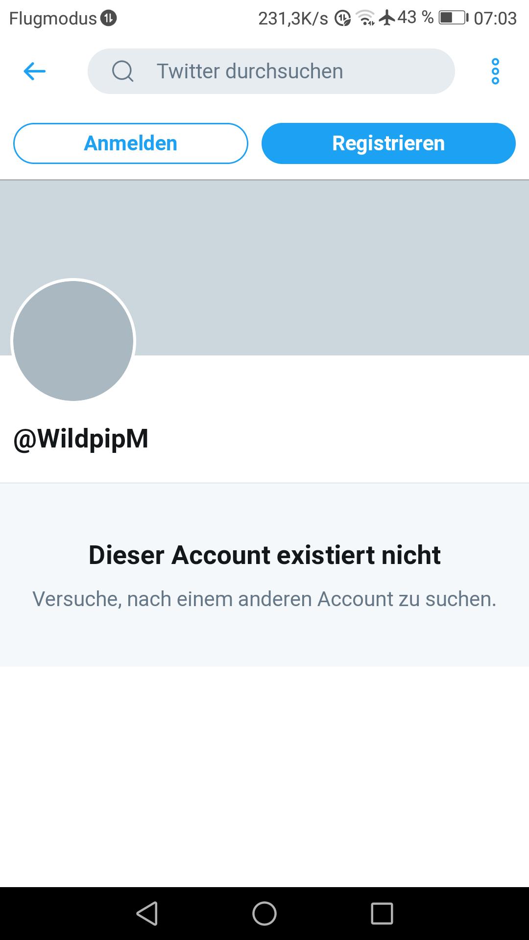 Twitter Account gelöscht