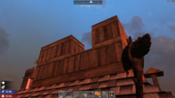 Fort on a rooftop