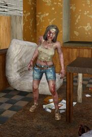 Female Feral Zombie