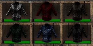 The six Plaid Shirt colors.