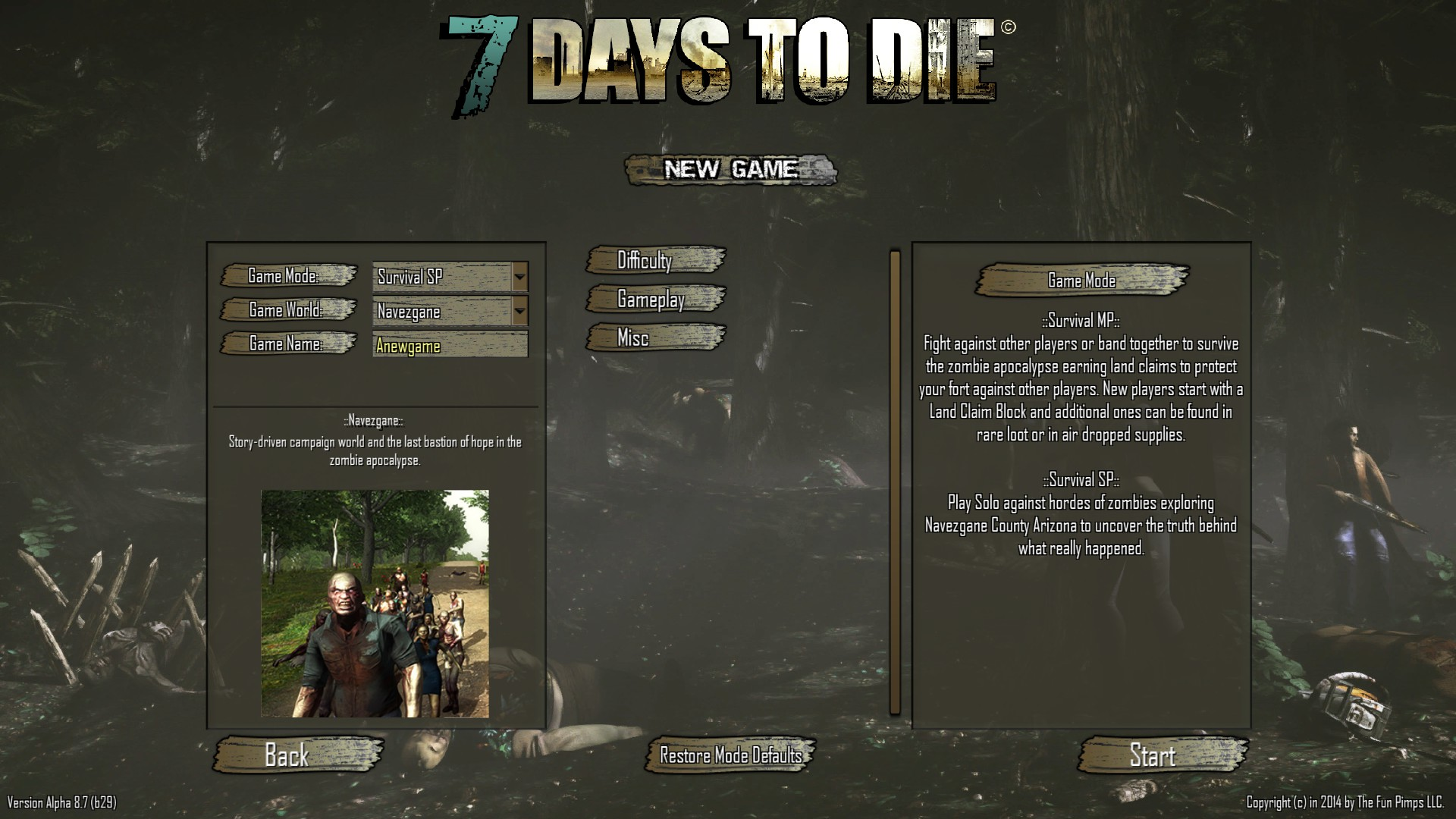 Game Settings Official 7 Days To Die Wiki