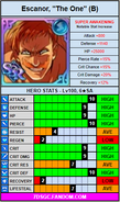 Blue the one escanor stat card