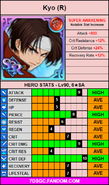 Red kyo stat card