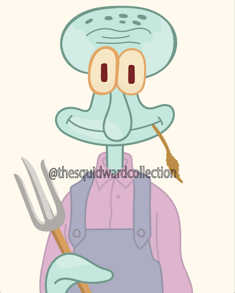 I'm digitally recreating Squidward's art on Instagram @thesquidwardcollection Check it out!