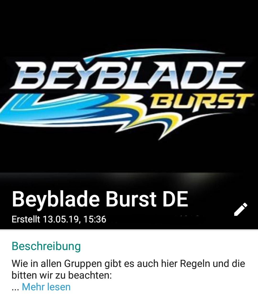 Beyblade WhatsApp Gruppe