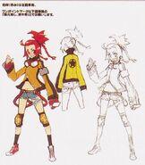 Haru Nishimura (Female Destroyer) Concept Art