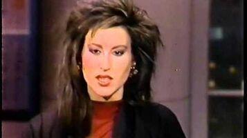 Rachel McLish on David Letterman Show 1986