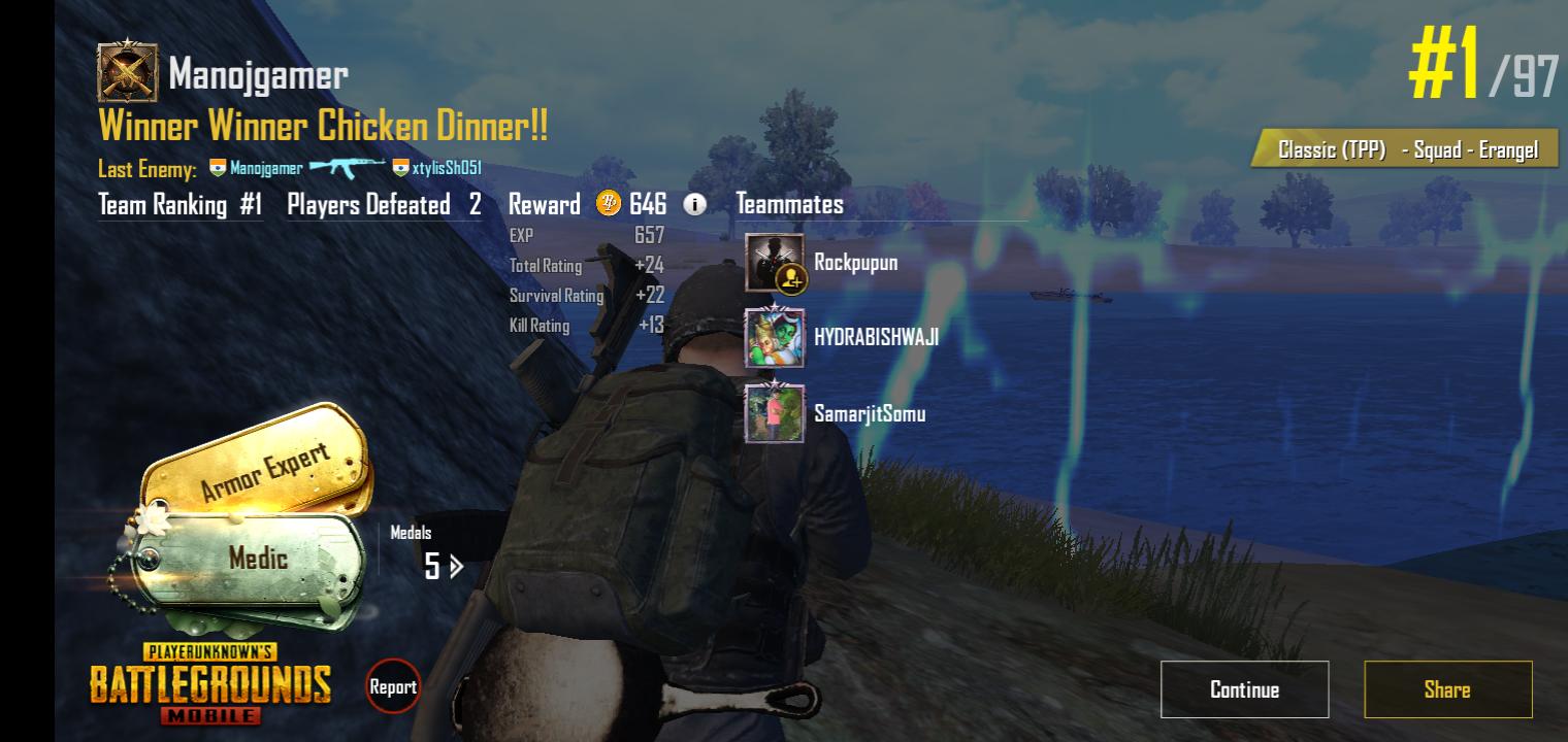 My friends were killing them all but finally I killed last two enemies
