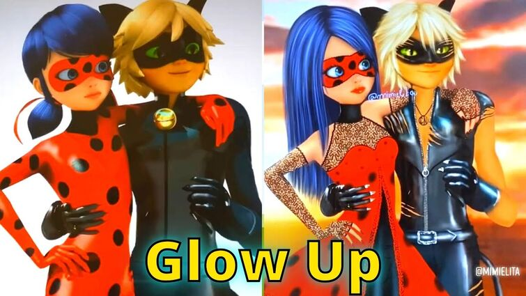 Miraculous Glow Up Transformation Ladybug and Chat Noir #shorts