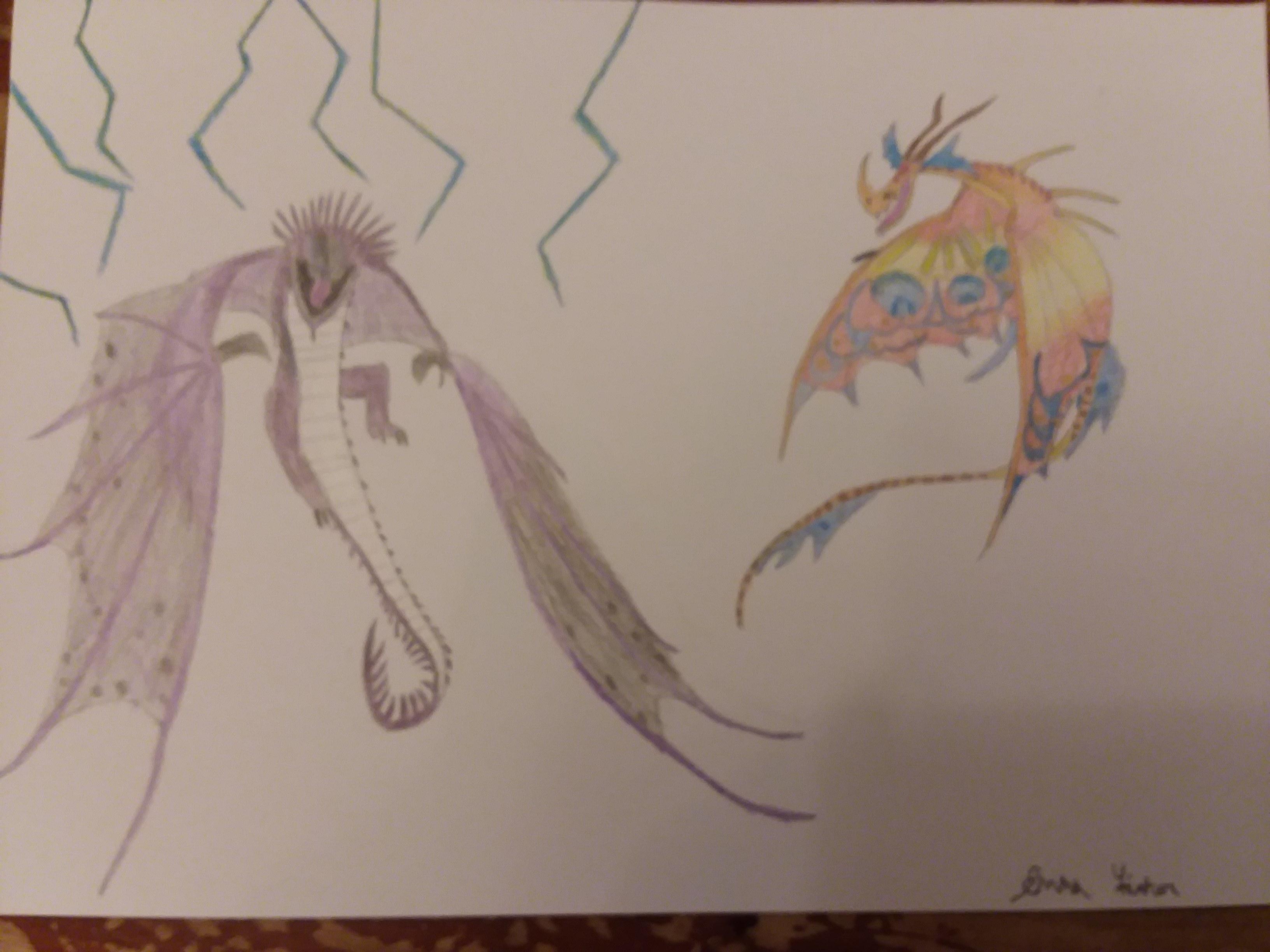 My First Drawing Of A Dragon Fandom