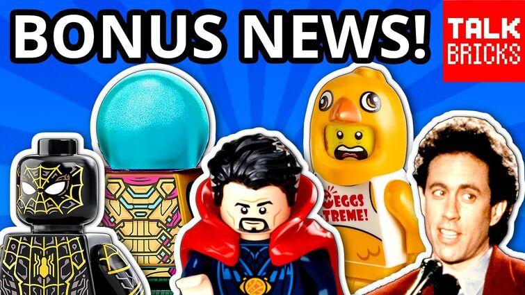 BONUS LEGO NEWS! Spider-Man No Way Home! Seinfeld! Marvel What If? City Stuntz! Boba Fett's Starship