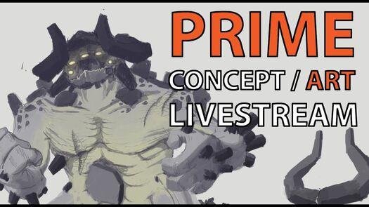 """Art Livestream: """"Prime"""" Boss Monster Concept Art"""