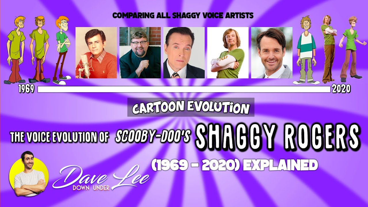 Voice Evolution of SHAGGY ROGERS (SCOOBY-DOO) - 51 Years Compared & Explained | CARTOON EVOLUTION