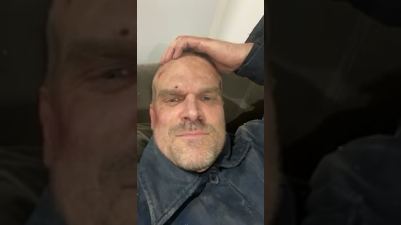 David harbour and Millie Bobby brown Instagram Live at stranger Things set