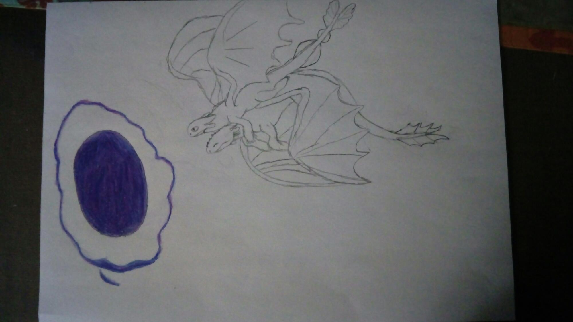 Segundo dibujo de httyd 3