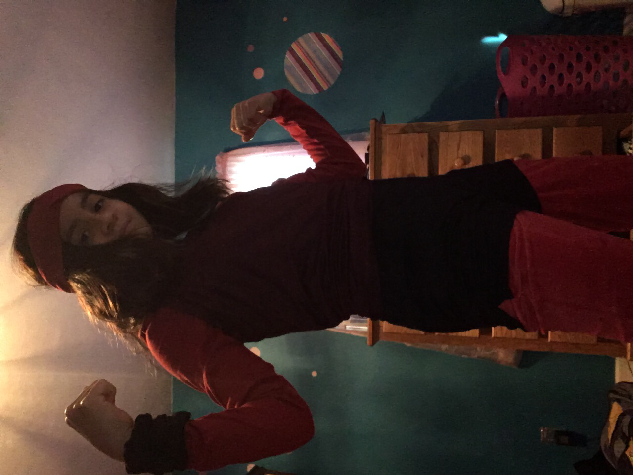 Ruby from Steven Universe cosplay feat. messy room XD (Don't ask why it's sideways lol)