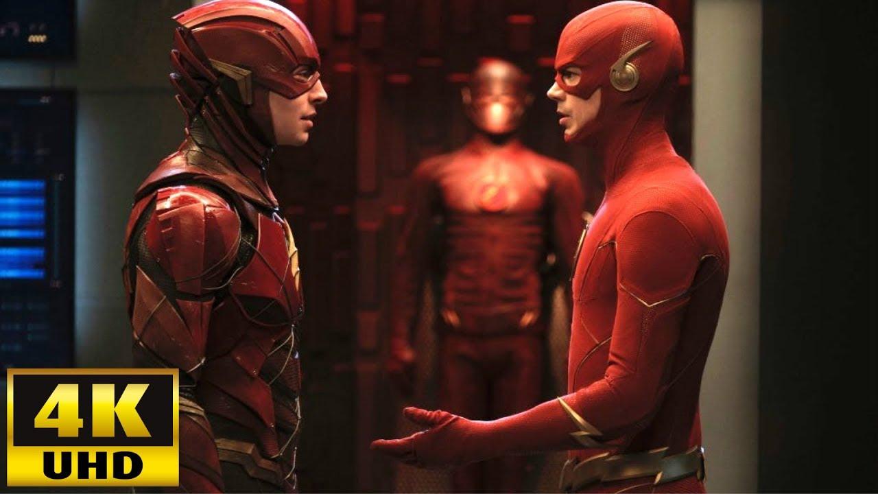 DCEU Barry Allen meets The Flash [4K Ultra HD] | Crisis On Infinite Earths Scene