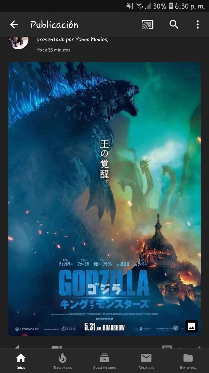 Nuevo poster de godzilla 2!