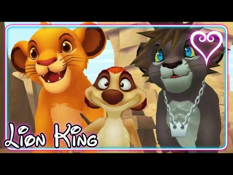 Kingdom Hearts 2 All Cutscenes   The Lion King ~ Pride Lands