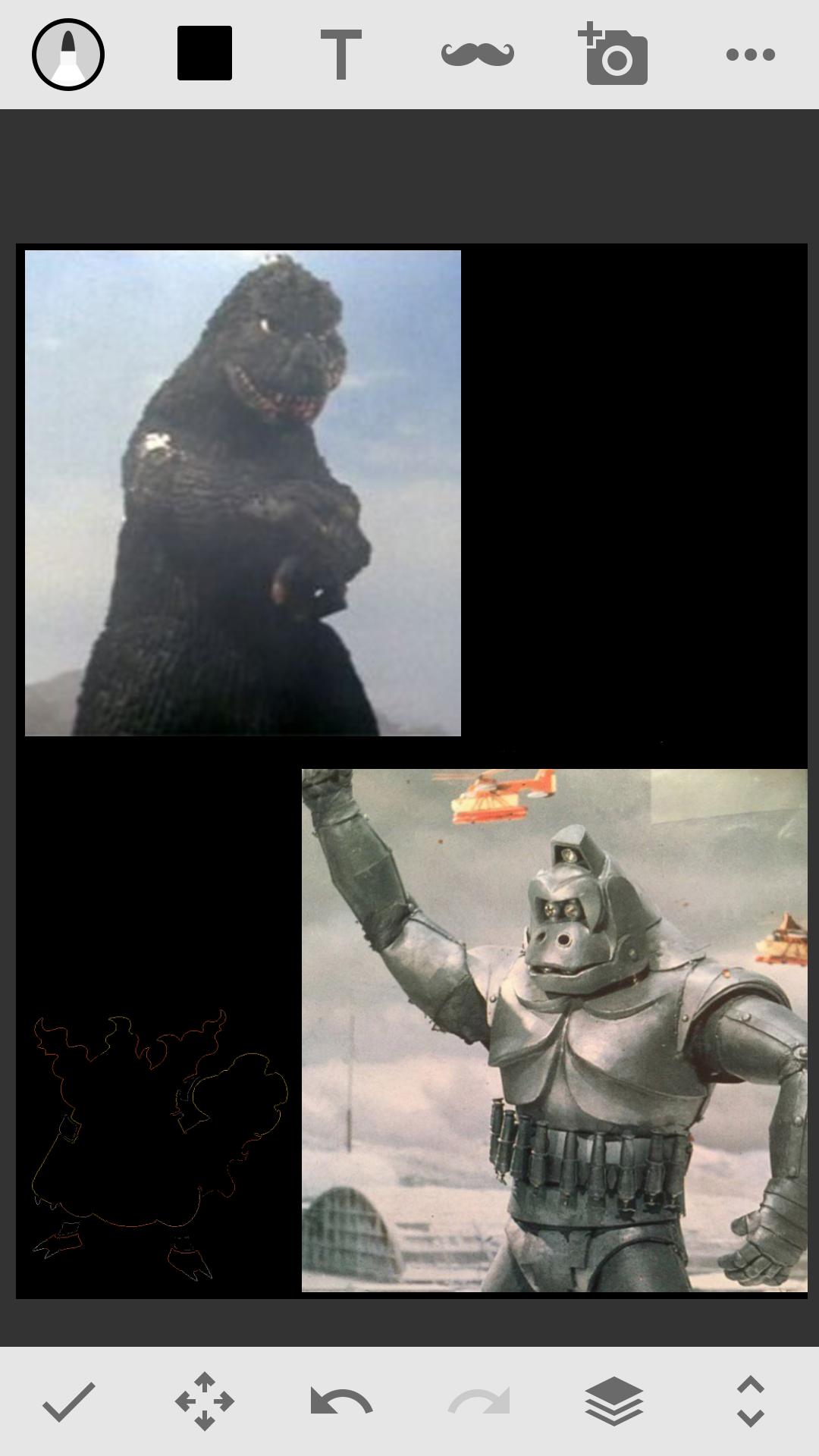 Fake-Godzilla vs Mechani-Kong