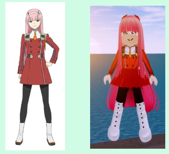 Anime Girl Id Roblox Royale High Zero Two Cosplay Thing Yee Fandom