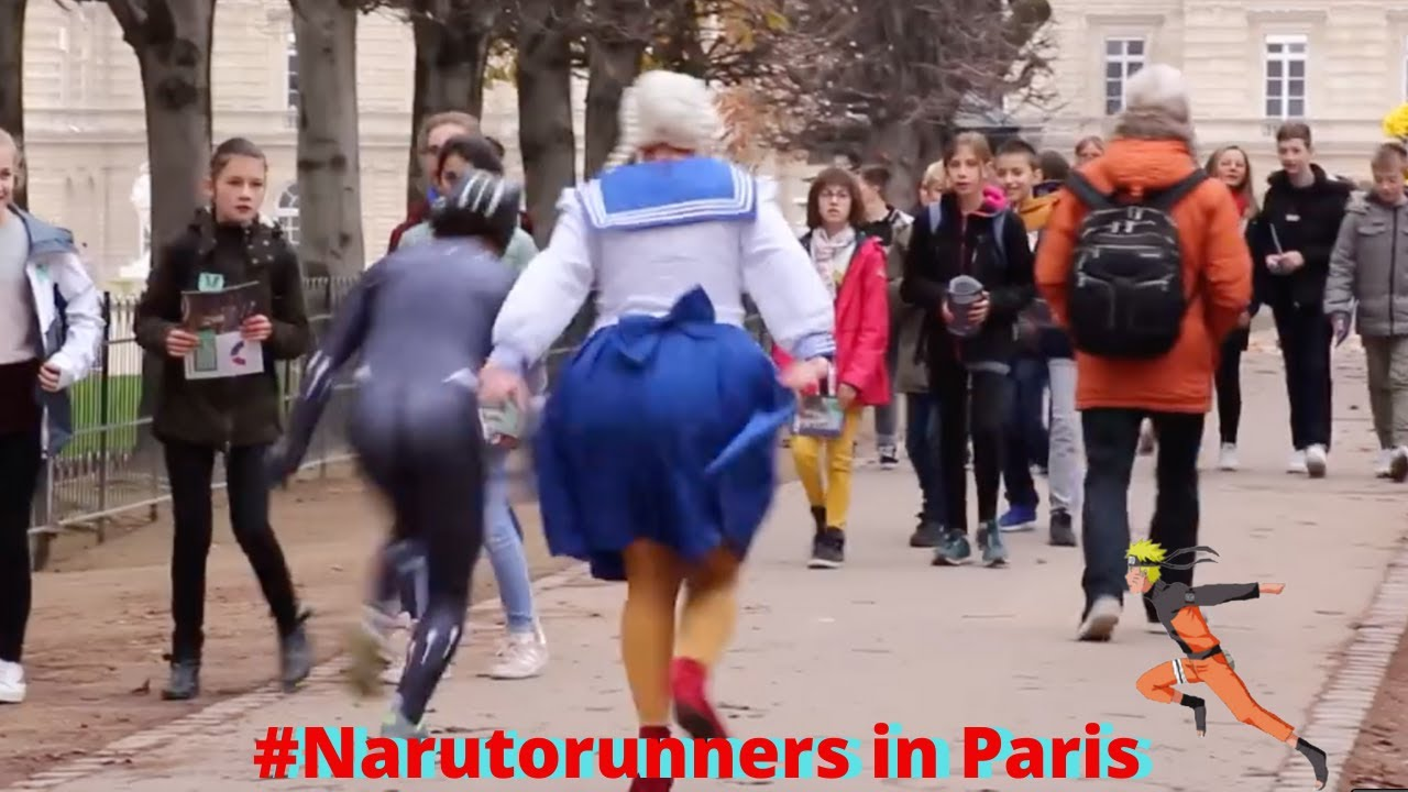 PRANK NARUTO RUNNER IN PARIS. CAMÉRA CACHÉE