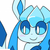 Glaceon the ice fox
